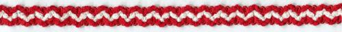 "3//4/"" RED WHITE CHENILLE BRAID FABRIC TRIM 24 YARDS"