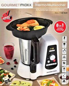 Details zu GOURMETmaxx Thermo Multikocher 8in1 Küchenmaschine, garen,  kochen, zerkleinern