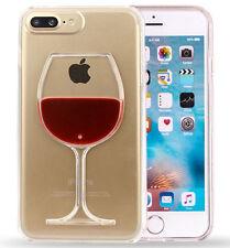 Estuches Fundas Vaso de Vino Rojo Estuche de Goma Trasparente Para iPhone 7 Plus