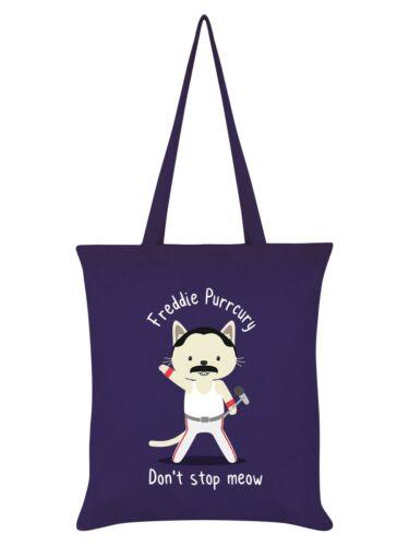 Tote Bag Freddie Purrcury Dark Purple 38x42cm