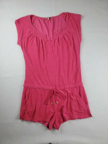 Juicy Couture Retro Hot Pink Terry Cloth Romper Si