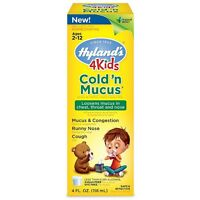 Hyland's 4 Kids Cold'n Mucus Relief Liquid 4 Oz (pack Of 3) on sale