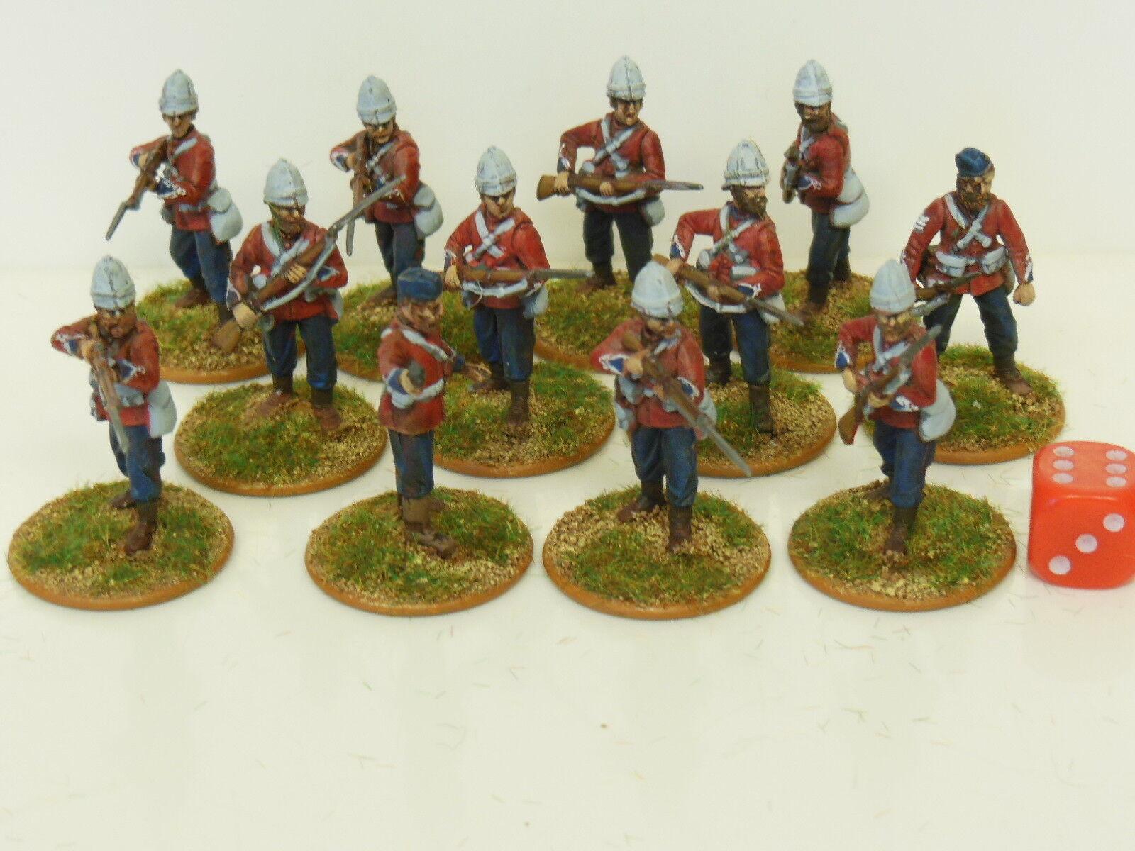 28mm  Zulu Wars British Infantry   Darkest Africa - Painted & Based (R3)