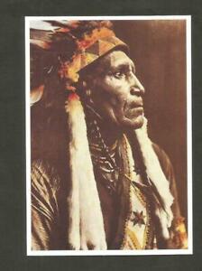CARTE POSTALE INDIEN AMERIQUE RAVEN BLANKET NEZ PERCES