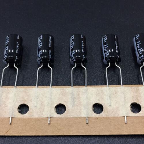 50pcs 33uF 35V Nichicon KL 6.3X11mm 35V33uF Electrolytic Capacitor