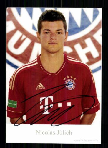 Nicolas Jüllich Autogrammkarte Bayern München II 2011-12 Original Signiert