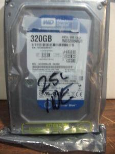 """WESTERN DIGITAL WD CAVIAR BLUE 320GB 3.5/"""" IDE DESKTOP PC HARD DRIVE WD3200AAJB"""