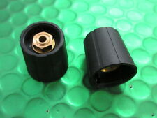 K210 125 BLACK/5, 21mm Black Collet Knob by Sifam. UK MADE. **5 PER SALE**