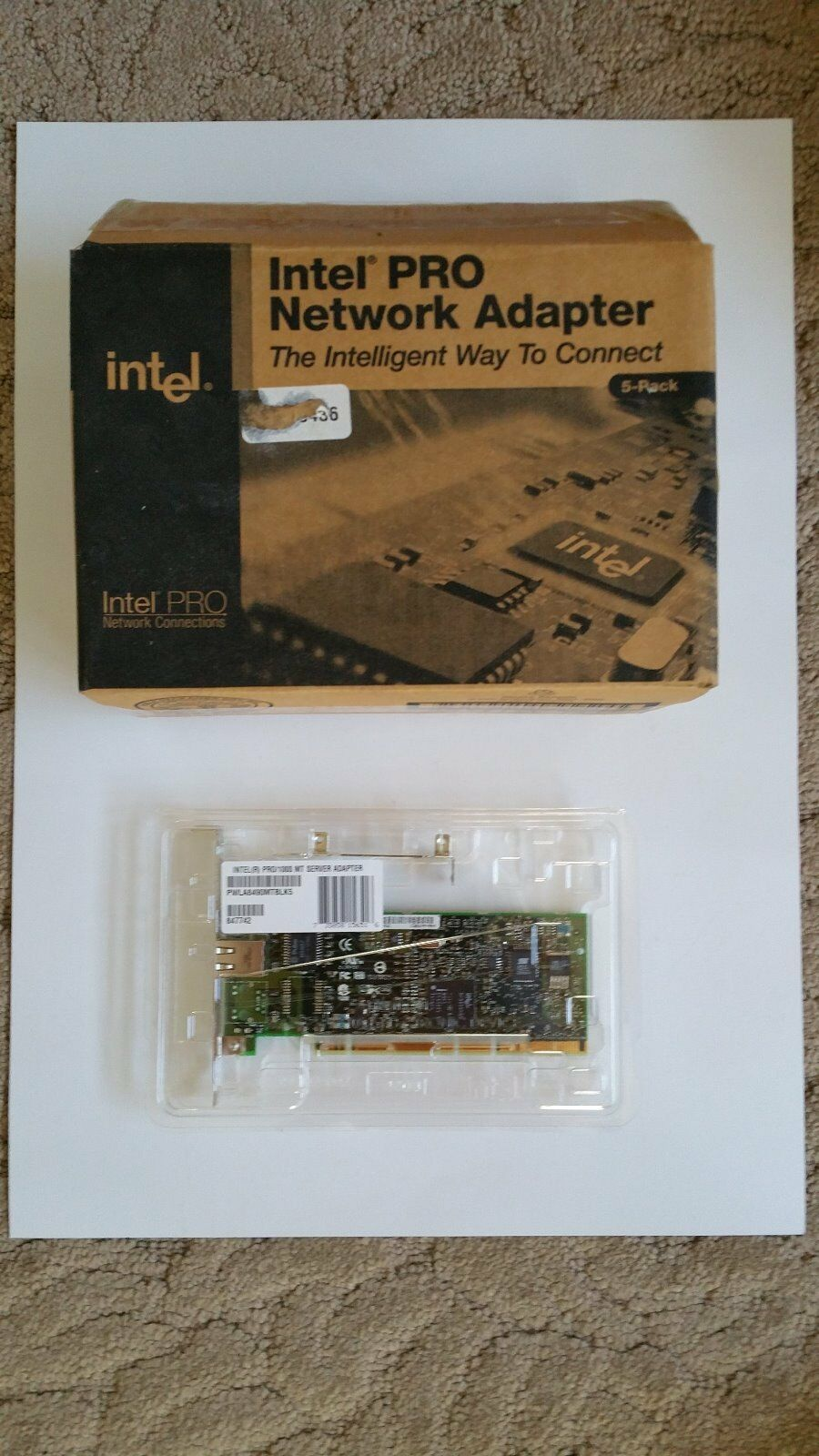 New Intel Pro/1000 MT Server Adapter 32/64 bit PCI/PCI-x inc low profile adapter
