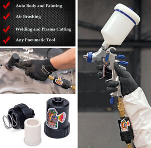 Fisheye-Filter-Spray-Gun-Tool-Inline-Air-Oil-Water-Filter-Trap-EXTRA-element