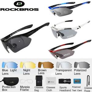 ROCKBROS Polarized Sunglasses Outdoor Cycling UV400 Eyewear Goggles with 5 Lens