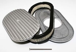 15-034-Oval-Shaped-Air-Cleaner-amp-Filter-Retro-Finned-Aluminum-Fits-Holley-Edelbrock