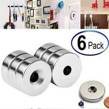 6pcs 34 X 14 Inch Neodymium Rare Earth Countersunk Ring Magnets N52