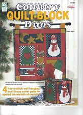 Country Quilt-Block Duos  ~ plastic canvas pattern book ~