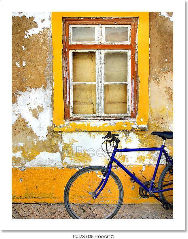 Bike Window Art Print Home Decor Wall Art Poster