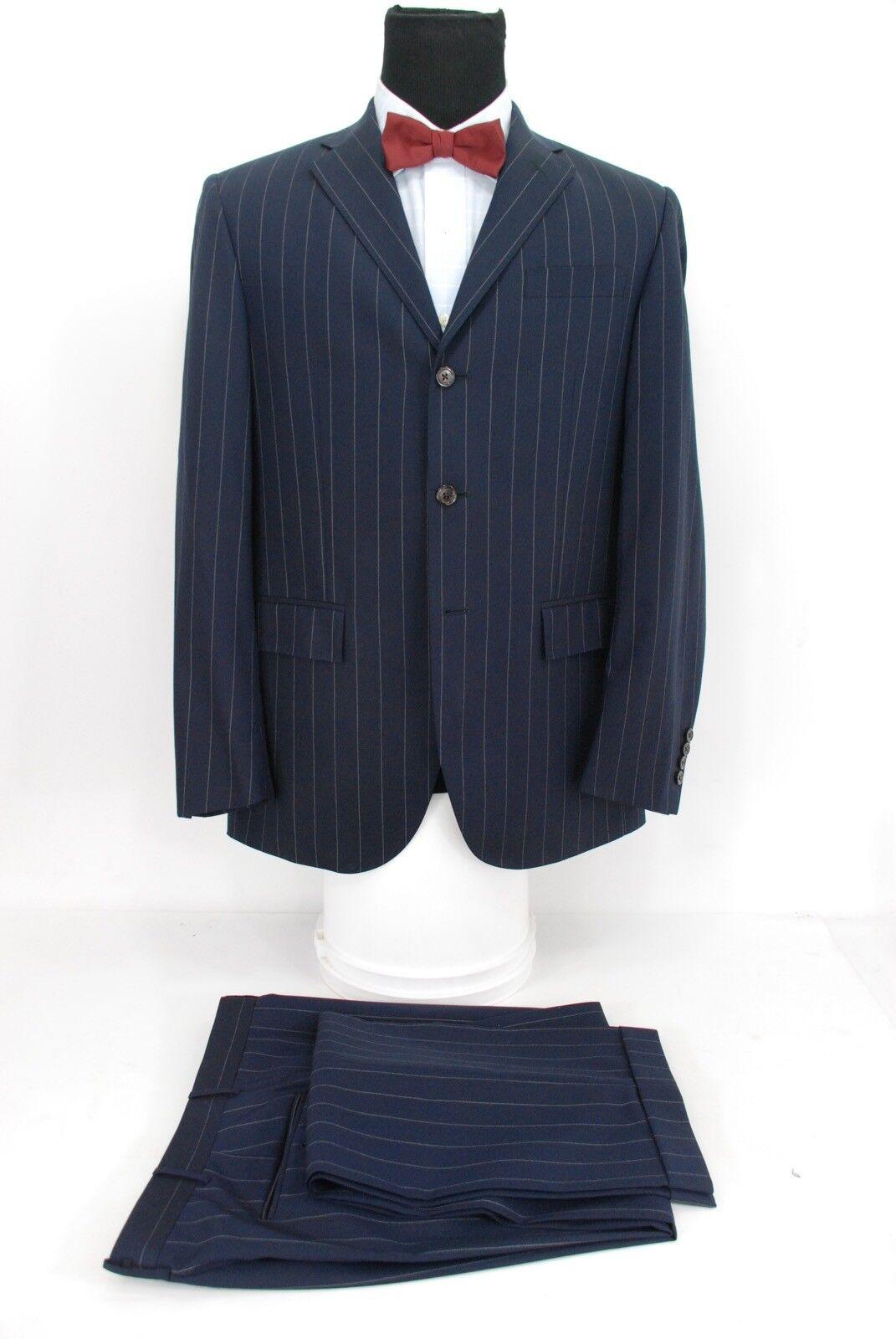 Polo Ralph Lauren  3Btn Men's Suit Navy bluee Pinstripe Wool 40R