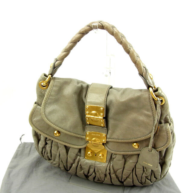 miumiu Shoulder bag Materasse Grey Woman Authentic Used Y5199