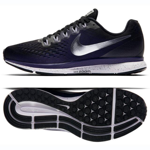 quality design db4b5 f685d Nike WMNS Air Zoom Pegasus 34 880560-015 Black/Purple/Silver Women Running  Shoes