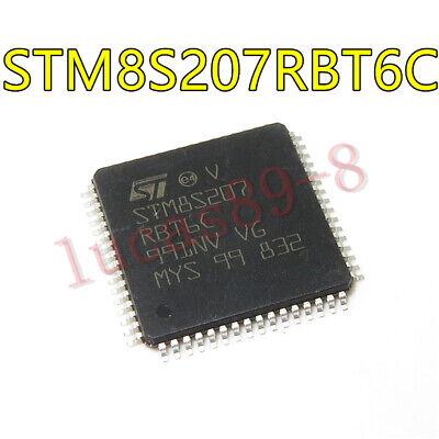 5PCS  STM8S207MBT6B LQFP-80 24 MHz STM8S 8-bit MCU up to 128 Kbytes Flash inte