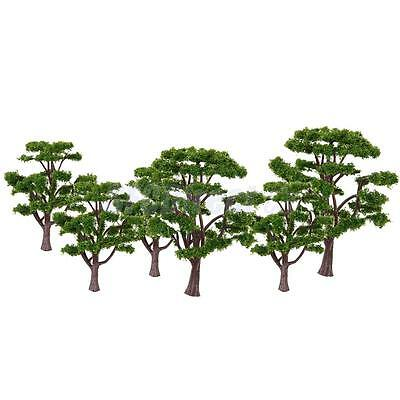 10 Green Trees Model Train Railway Diorama Wargame Park Scenery HO N Scale