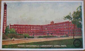 1905-Postcard-Hood-039-s-Sarsaparilla-Lab-Lowell-Mass-MA