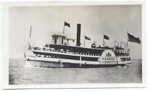 Great-Lakes-Steamship-R-B-Hayes-4-x-2-5-034-Antique-b-w-Photo