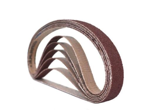 1//2 Inch X 18 Inch Aluminum Oxide Sanding Air File Belts 24 Pack, 400 Grit