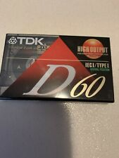 A superior general-purpose audio cassette TDK D60 ICE I//Type I Dynamic Performance High Output Audio Cassette Tape