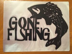 Tin Sign Vintage Gone Fishing