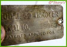 John Deere 50 Serial Number Tag Serial 5019963 Built In 1954 Aluminum Tag