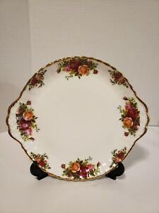 Royal-Albert-Old-Country-Rose-Two-Handled-Cake-Plate