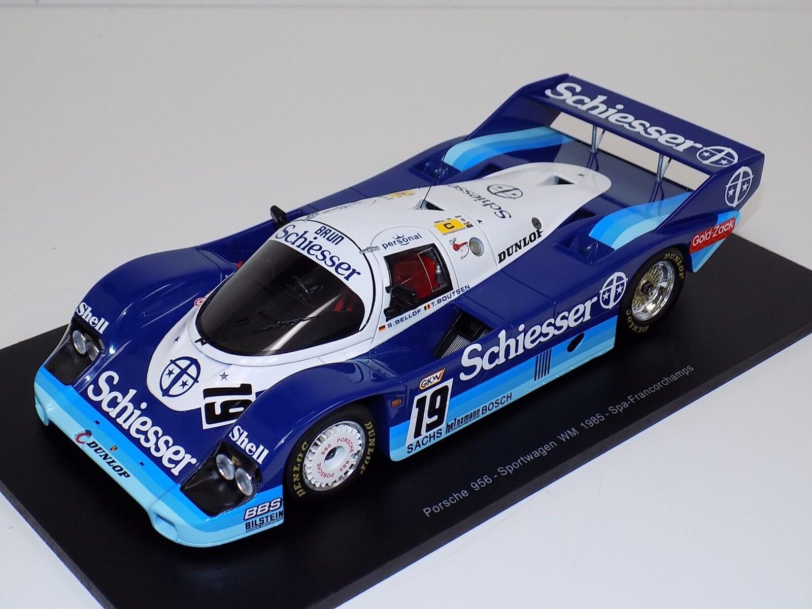 Spark Porsche  K 1000 km Spa 2018 schhiesser Bellof & Boutsen coche 19