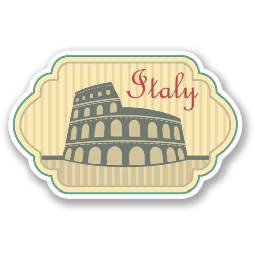 2 x Italy Vinyl Sticker Laptop Travel Luggage #4217