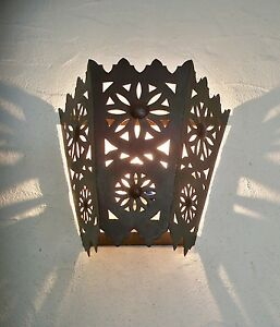 applique murale Marocaine fer forgé lampe lustre lanterne ...