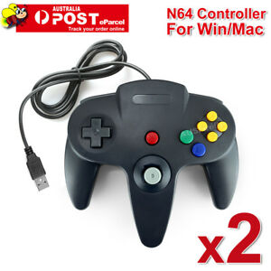 2x-NINTENDO-64-N64-GAMES-CLASSIC-GAMEPAD-CONTROLLERS-FOR-USB-TO-PC-MAC