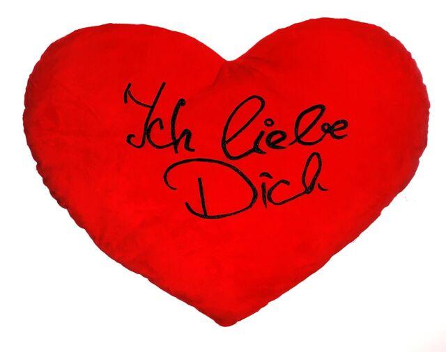 Herzkissen ICH LIEBE DICH romantisch Geschenk flirten Erinnerung Liebe verliebt