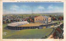 F50/ Madison Wisconsin Postcard 1933 Stadium University Camp Randall