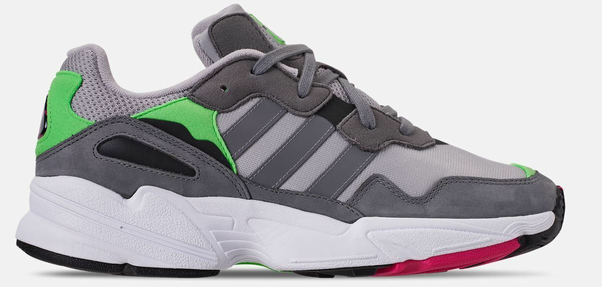 Adidas Originals Men's YUNG-96 shoes Grey Shock Pink F35020 c