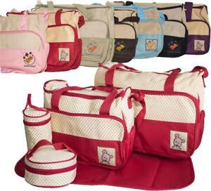 c706cbd200 5pcs Baby Nappy Changing Bag Set Diaper Bags Shoulder Handbag Mommy ...