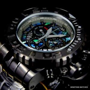 Invicta Sea Hunter Gen II 70mm Abalone Swiss Mvt Black Steel Watch Chrono New