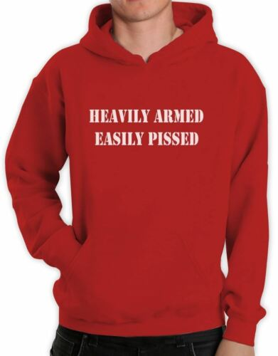 Heavily Armed Easily Pissed Hoodie Funny 2nd Amendment Gun Rights AR15 Hooded
