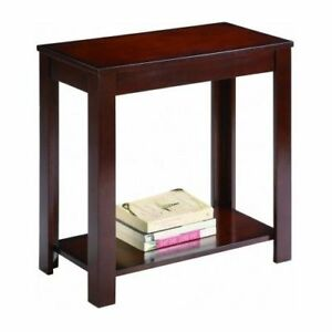 Details About Side Table Chair End Wood Stand Living Room Espresso  Nightstand Sofa Night Shelf