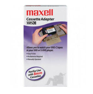 Maxell-VHS-C-TO-VHS-video-Cassette-Adapter-VP-CA-TC-30