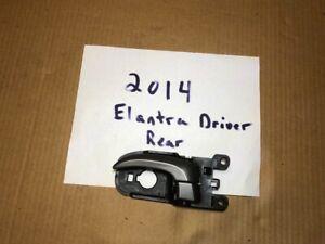 2014 Hyundai Elantra Used Driver's Side Rear Door Handle Black w/ Gray Lever