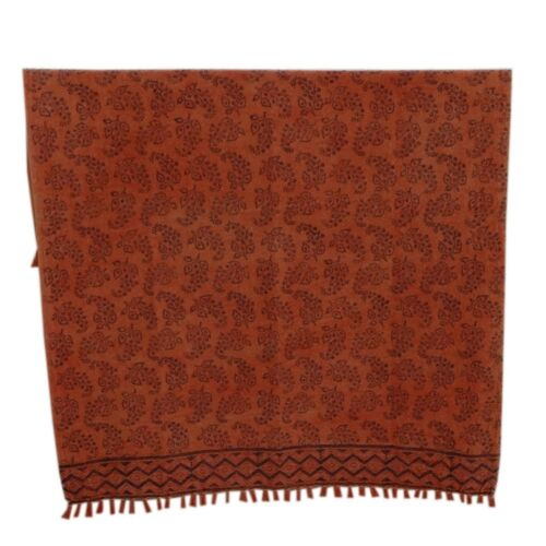 Hand Block Printed 100/% Cotton Kilim Tassel Hand Woven Throw Coverlet 48x72 inch