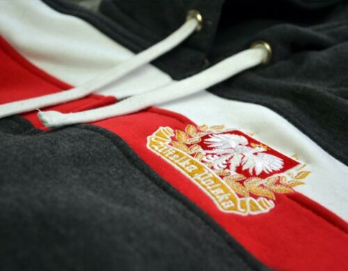 Sweatshirt Hoodie Bluza Patriotic Eagle Poland Flag Grey Wielka Polska Walczaca