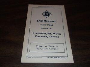 SEPTEMBER-1934-ERIE-RAILROAD-FORM-15-ROCHESTER-MT-MORRIS-DANSVILLE-TIMETABLE