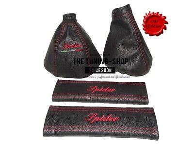 "For Alfa Romeo Spider 06-10 Gear /& Handbrake Gaiter Leather /""Spider/"" Embroidery"
