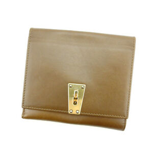 e4a979ae10d Gucci Wallet Purse Folding wallet Brown Gold Woman Authentic Used ...