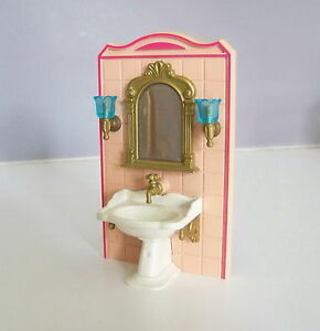 Playmobil j2118 epoque 1900 ensemble lavabo miroir for Salle bain playmobil